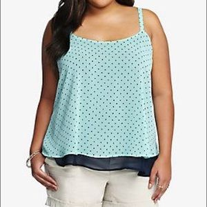 Star print double layered cami